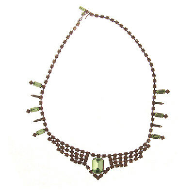 Joomi Lim Orange/Green Crystal Necklace NEW