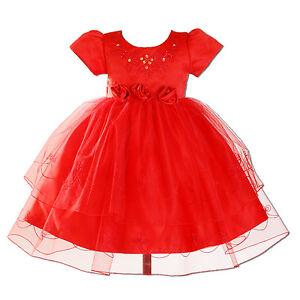 robe de soir e de bapt me de b b de age 0 3 et 12 18 mois en blanc rouge rose ebay. Black Bedroom Furniture Sets. Home Design Ideas