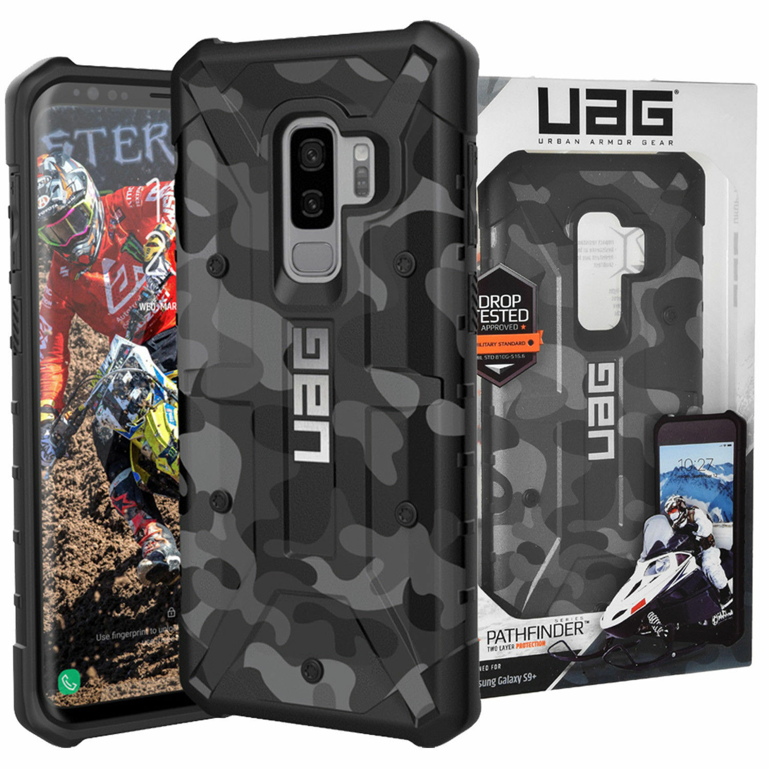 buy online 9d1ac cd125 Details about UAG Pathfinder Samsung Galaxy S9+ Camo SE Rugged Case  Military MIDNIGHT