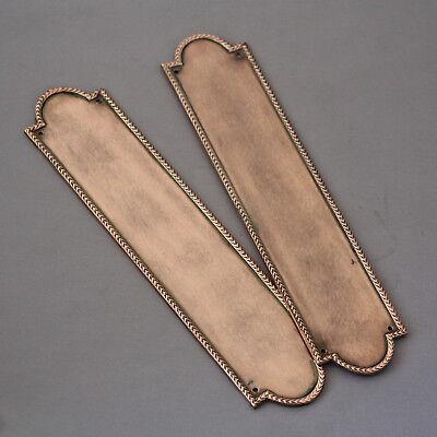 1930s Pair Pink Brass Finger Plates