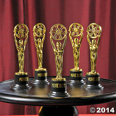 MOVIE TROPHIES (LOT OF 3) MOVIE BUFF GOLD AWARD Unique NEW
