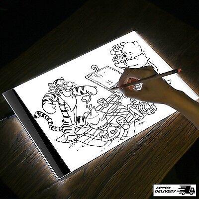 A4 Tracing LED Light Box Thin Stencil Painting Drawing Board Sketch Pad USB New