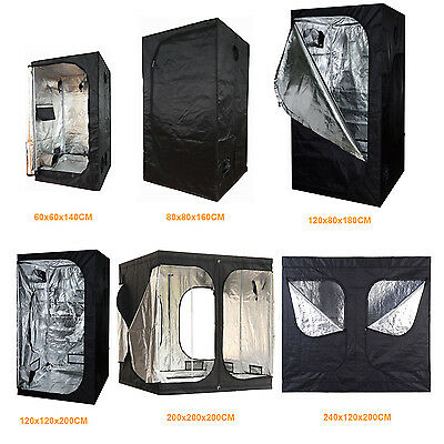 Indoor Grow Light Box Tent Aluminum lined Bud Dark Room for Hydroponic Fan New