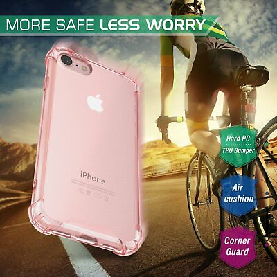 Slim Crystal Clear Pink Girly Case Hard TPU Protector Cover For iPhone 7 7 Plus Clear Crystal Case Protector Cover