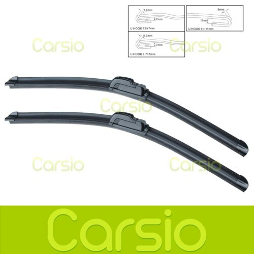 Lexus GS 430 2000 - 2004 Aero Flat Windscreen Wiper Blades (Pair) 20/24