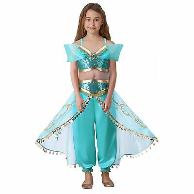 New Kids Aladdin Princess Jasmine of Aladdin Fancy Dress Up Cosplay Party - Princess Jasmine Dress Up Outfit
