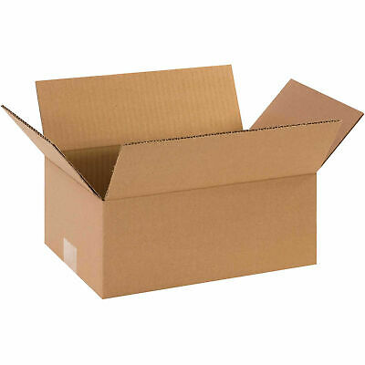 10 X 6 X 3 Flat Corrugated Boxes 65 Lbs Capacity Ect-32 Lot Of 25