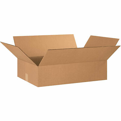 24 X 16 X 6 Flat Cardboard Corrugated Boxes 65 Lbs Capacity Ect-32 Lot Of