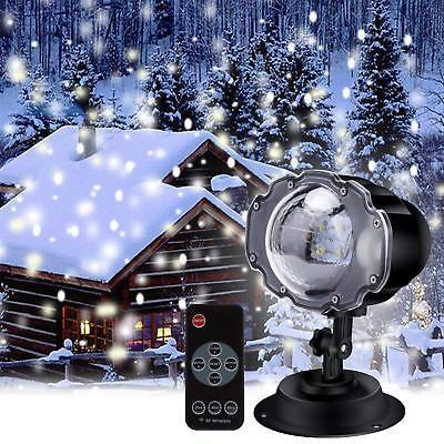 Xmas Luci Proiettore Luce Natale Laser Light LED Addobbi Natalizi Fiocco Di Neve
