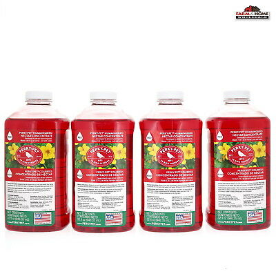 (4) Wild Hummingbird Nectar Food 32oz Red Concentrate ~ New 32 Ounce Red Nectar