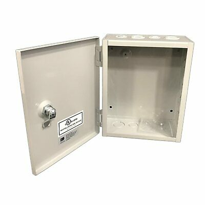 1 Sheet Metal Junction Box Electric Hinged Cover Enclosure Wire 8x10x4 Depth