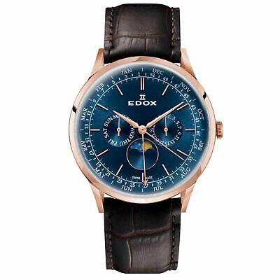 Edox 40101 37RC BUIR Men's Les Vauberts Blue Quartz Watch