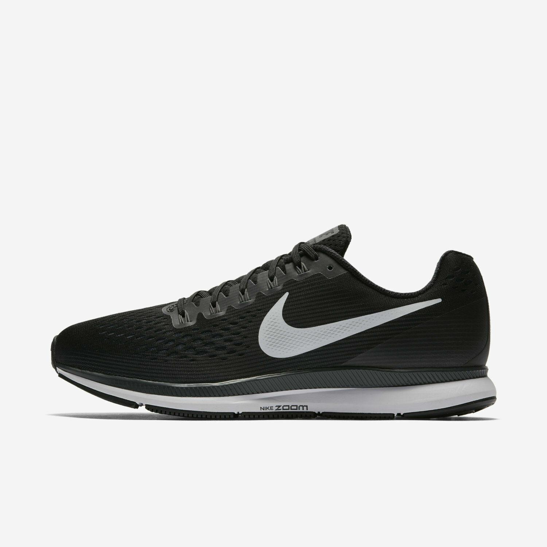 buy online 465e3 16cb6 Nike Air Zoom Pegasus 34 Black White Dark Grey 880555-001 Men's Running  Shoes