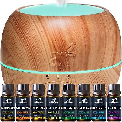 ArtNaturals Aromatherapy Essential Oil and Diffuser Gift Set - (150ml Tank & ...
