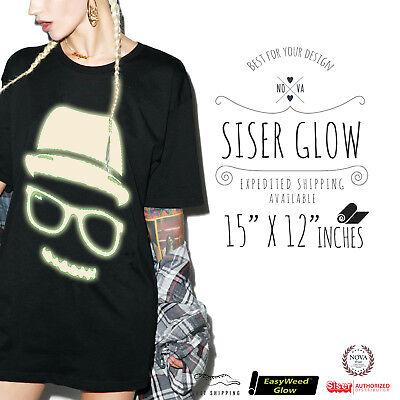 Siser Easyweed Glow In The Dark Heat Transfer Vinyl 15 X 12