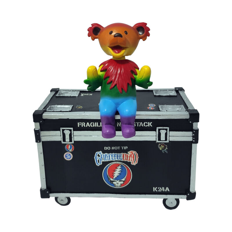Kollectico Grateful Dead Dancing Bear Bobble Buddy with Stage Box
