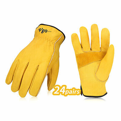 Vgo 1231224pairs Unlined Cow Grain Leather Work Glovesdriver Glovesca9590