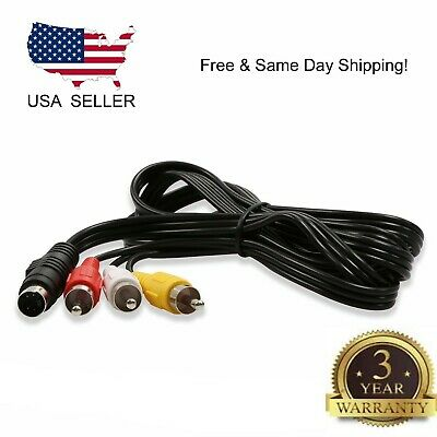 Computer Audio Video - 4 Pin S Video to 3 RCA TV Male Cable Lead For Laptop PC Audio Computer Connector