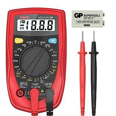 Digital Multimeter Voltage Tester Volt Ohm Amp Meter With Continuity Msr-r500