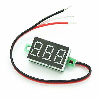 5pcs Mini Dc Voltmeter 0-40v 3 Lead 33x15x10mm