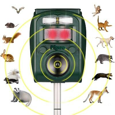 Outdoor Yard Sonic Solar Dog Cat Bird Fox Mouse Rodent Adjustable Pest Repeller