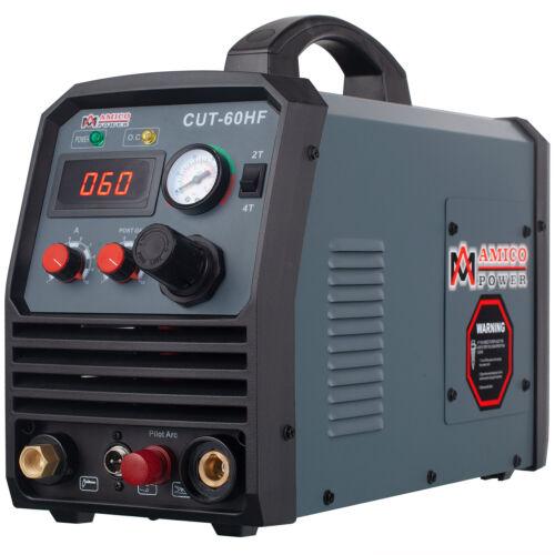 CUT-60HF, 60 Amp Non-touch Pilot Arc Plasma Cutter,100~250V, 4/5 in. Clean Cut.