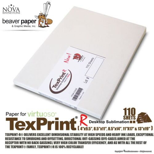 Sublimation Transfer Paper *** Texprint R *** Pack of 110 Sheets