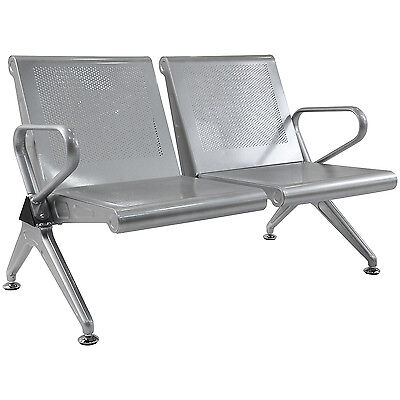 Waiting Chair 2-seat Salon Airport Bus Station Reception Room Clinic Rest Bench