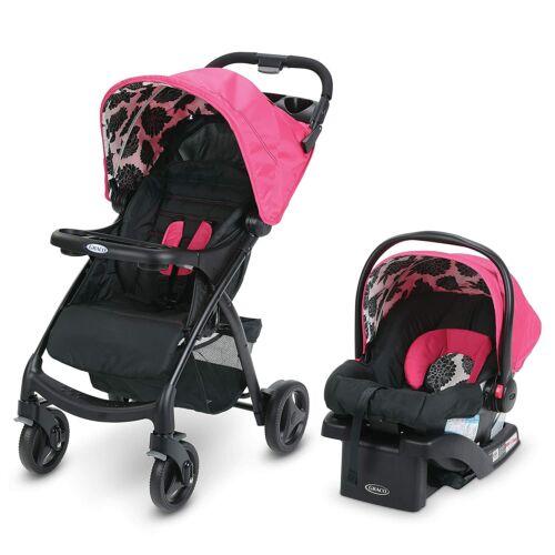 Graco Verb Travel System w Verb Stroller SnugRide 30 Infant Car Seat, Azalea NEW