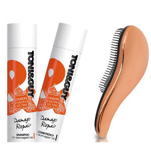 Toni & Guy Shampoo and Conditioner With Detangling Brush Womens Gift Set