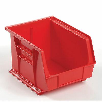 Plastic Storage Bin - Small Parts 8-14 X 10-34 X 7 Red Lot Of 6