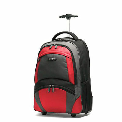 Samsonite Wheeled Computer Backpack-Orange and Black color