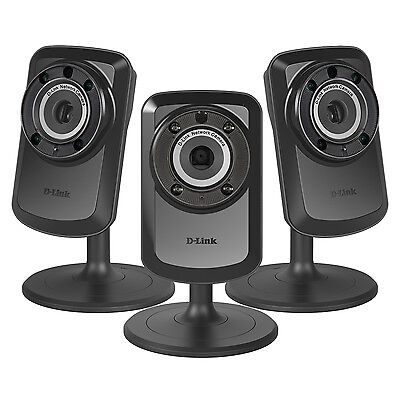 Image of 3-PACK D-Link Wireless Day Night WiFi IP Security Camera & Remote View DCS-934L