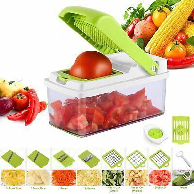 Gemüsehobel 10 tlg. Küchen Reibe Gemüse Schneider Würfel Hobel Gemüseschneider