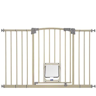 Indoor Dog Gate Pet Cat Door Fence Adjustable Baby Barrier Safety Metal Pen