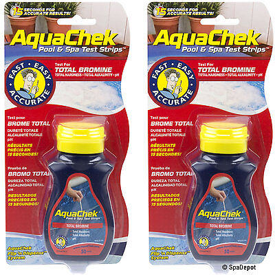AquaChek Red 100ct. Bromine Test Strips for Hot Tub and Spa - 2 x 50ct. Bottles ()