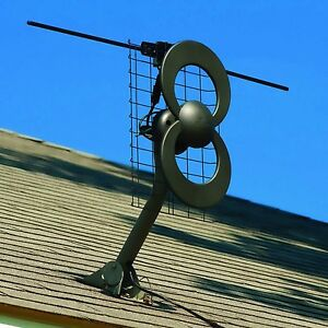 Antennas Direct ClearStream C2V Indoor/Outdoor Digital TV Antenna with Mount