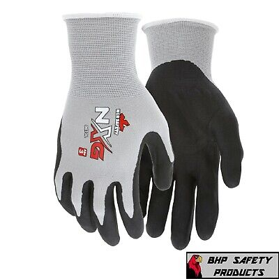 Work Gloves Mcr Safety Nxg Foam Nitrile Micro Foam-palm Coated 9673 12 Pair
