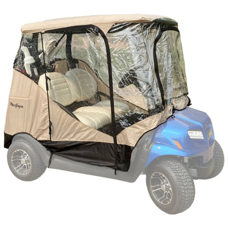 MacGregor Golf Cart Cover / Enclosure with 4 Sides, Zippered Doors, 2 Passenger