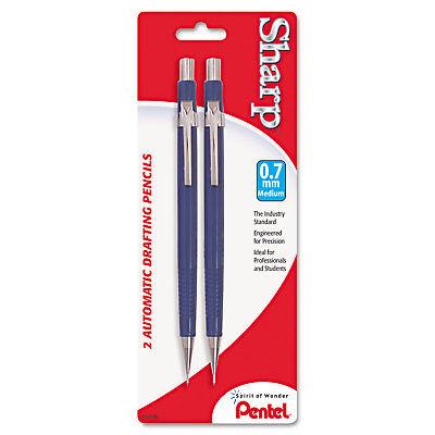 Pentel Sharp Mechanical Drafting Pencil 0.7 Mm Blue Barrel 2pack P207bp2k6