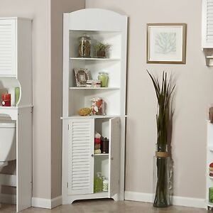 RiverRidge Ellsworth Collection Tall Corner Cabinet In White Finish 06 027  New