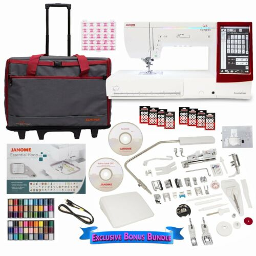Janome Memory Craft 14000 Sewing Embroidery and Quilting Machine + STARTER SET