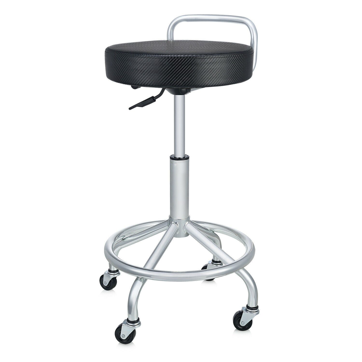 SEVILLE CLASSICS ULTRAHD CUSHIONED PNEUMATIC WORK STOOL, BLACK Automotive Tools & Supplies