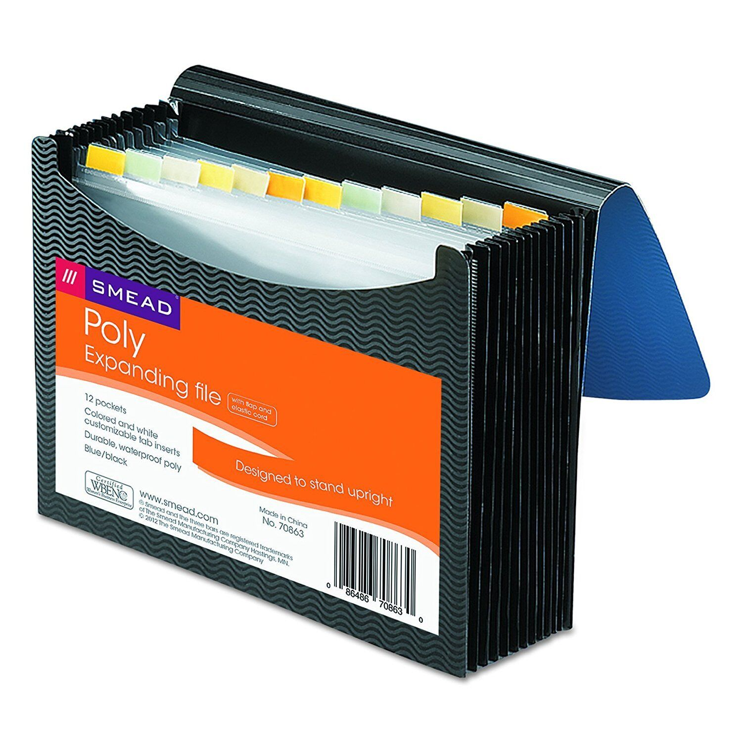 Smead Poly Frequency Expanding File, 12 Pockets, Flap and Co
