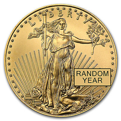 1/4 oz Gold American Eagle Coin – Random Year Coin – SKU #3