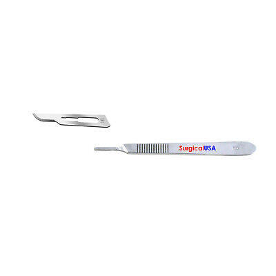 Kit Of 100 Surgical Blades 15 Scalpel Handle 3 Surgical Dental Instruments
