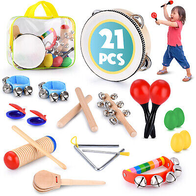 Educational & Musical Percussion for Kids & Children Instruments Set 21 Pcs