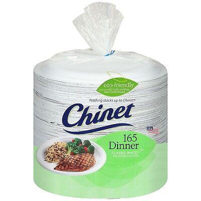 White Dinner Plates (Chinet - White Biodegradable Paper Dinner Plates - 165)