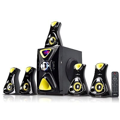 5.1 CHANNEL HOME THEATER STEREO SURROUND SOUND BLUETOOTH SPEAKER SYSTEM MP3 USB