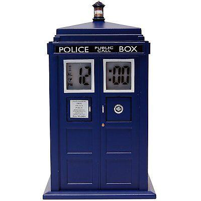 DR WHO FIGURE TARDIS PROJECTION ELECTRONIC ALARM CLOCK LIGHT AND SOUND OFFER